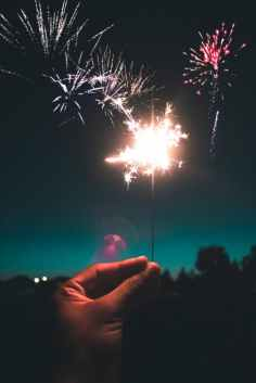 selective focus photography of sparkler